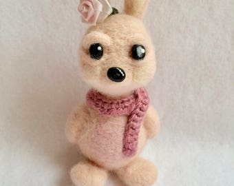 Needle Felted Spring Rabbit