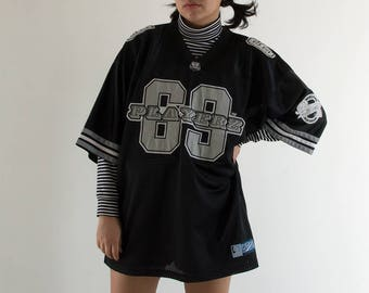 """90s """"69 Playerz"""" Short Sleeved Jersey / Fits up to an Extra Large"""