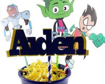 Teen Titan Centerpiece, Teen Titan, Teen Titan Party, Teen Titan Decorations, Teen Titan Theme