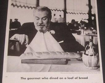 1966 Carson Pirie Scott Seven Continents Gourmet Restaurant, Vintage Print Ad, O'Hare International Airport, Historic Chicago