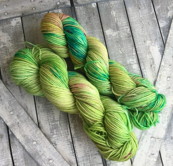 Bell-snickel Yarn,Dickon Base,Hand Dyed Yarn,DK Weight,4 ply,Superwash Nylon mix,100 grams,indie dyed yarn,gift for Knitter,Toad Hollow Yarn