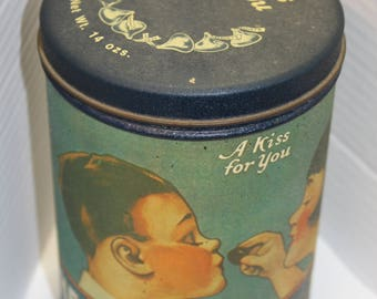 1980 Hershey's Milk Chocolate Kisses, A Kiss For You Tin