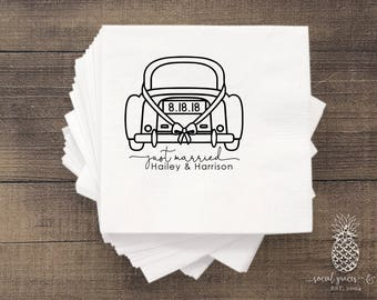 Wedding Napkins, Just Married