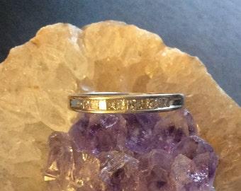 10KT White Gold Princess Cut Diamond Ring