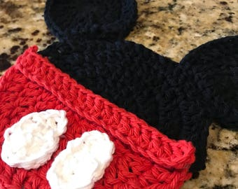 Mickey Mouse Minnie Mouse, Hot Pad, Trivet, Gifts Under 10, Crochet,  Handmade