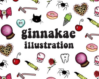Canvas Tote Bag - Ginnakae Illustration (LIMITED)