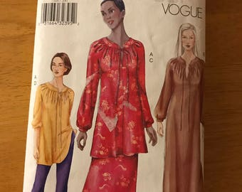 Vogue 7348 - Very Easy Caftan, Tunic, Skirt, and Pants - Size 20 22 24