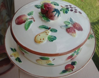 Vintage Japan Nasco Product Porcelain Condiment Dish with Cover