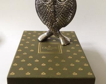 Christofle France Art Nouveau Silverplate Deux Poissons (Two Fish) Vase in Presentation Box
