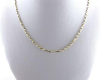 14K Yellow Gold Rolo Link Style Chain Necklace 16 Inches 1.6 grams