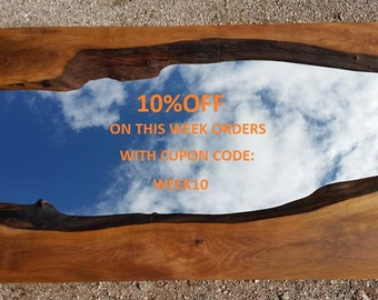 Wood Mirror - Wooden Rustic Mirror