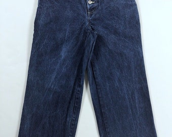 Vintage 90s No Excuses Girl Gear Wide Leg Stovepipe Blue Denim Jeans Womens Size 9/10
