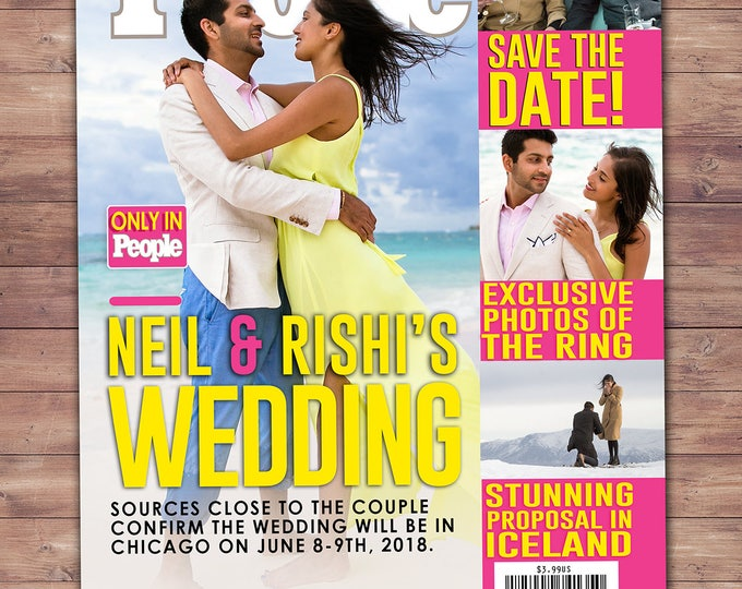 MAGAZINE wedding, pregnancy announcement, baby announcement, wedding, gift, special event, retirement. save the date