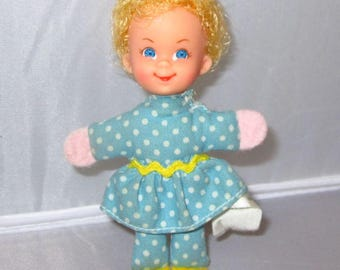 """Mrs Beasley 3"""" Doll from Family Affair without glasses 1967 vintage Mattel"""
