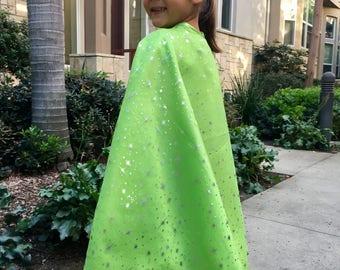 Glittery Fairy Cape - Green