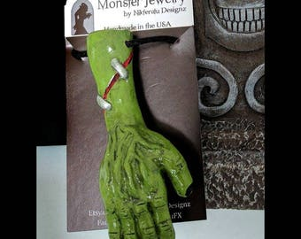 Frankenstein Necklace // Bride of Frankenstein // Monster Jewelry // Horror Movie // Universal Monsters