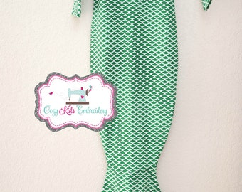 Mermaid Baby Gown, Baby Gown, Coming Home Gown, Mermaid Gown