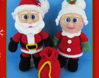 Santa and Mrs. Clause (PDF file only, this is not the finished doll)