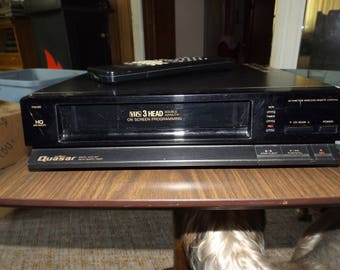 Vintage Quasar VHS Player With Remote