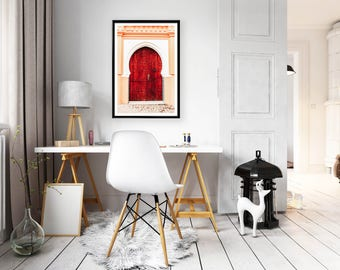 Fine Art Photography - Red Moroccan Door - Marrakech - Morocco - Wall decoration - Travel