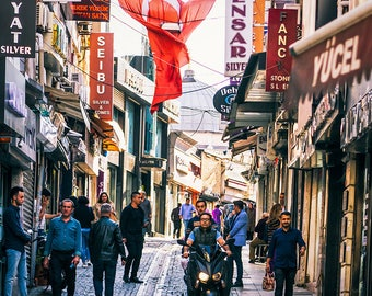 Photographie Fine Art - Rue d'Istanbul - Toile photo - Istanbul - Turquie