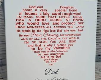Valentine for dad  Etsy