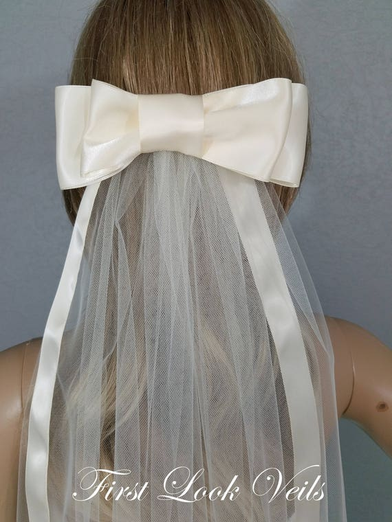 Wedding Veil, Bridal Veil, Bow Viel, Cathedral Veil, Handmade, Bride, Accessory, Gift