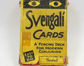 Magic Svengali Cards 1944 - 12 Clever Card Mysteries - Forcing Deck Modern Conjuring - Instructions by Tarbell - Enardoe Product - Lombardy