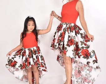 Mother Daughter Matching Dresses Mommy And Me Dress Mom And Daughter Matching Outfit Mothers Day Dress Party Dress Bridesmaid Birthday Dress