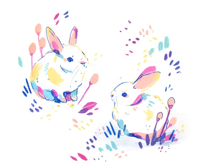 Bunnies -- Art Print
