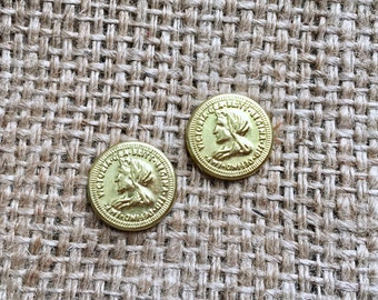 Boho Coin Studs, Concho Coin Studs, Concho Stud Earrings, Gold Concho Studs, Cowgirl Concho Studs, Western Concho Studs, Boho Concho Studs