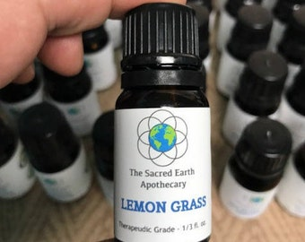 Lemongrass Certified Organic Essential Oil Pure Therapeutic Grade - 10 ml