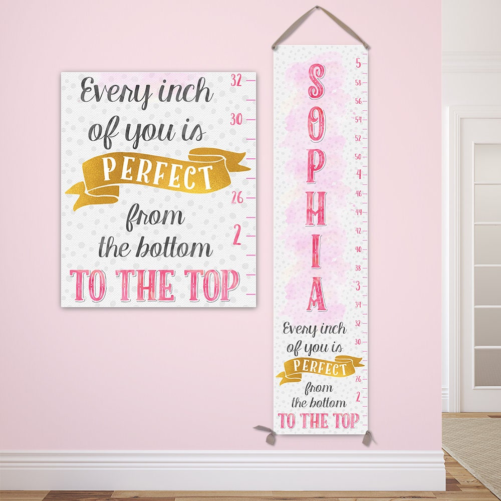 Pink and gold personalized canvas growth chart pink and gold pink and gold personalized canvas growth chart pink and gold birthday personalized baby gift girl growth chart girl gc8000g nvjuhfo Image collections