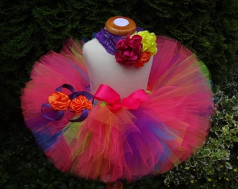 Neon Tutu, Birthday Tutu, Party Tutu, 80s Tutu, Baby Tutu, Toddler Tutu, Newborn Tutu, Infant Tutu, Tutu, Cakesmash Tutu, Sewn Tutu
