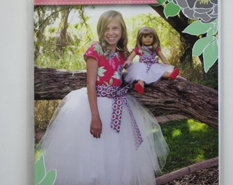 Perfectly Paired:  tulle skirt for a girl and her doll.