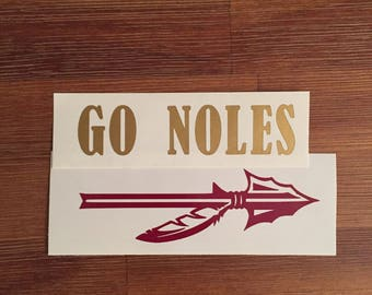 Florida State University Seminole Decal- FSU Yeti Decal Vinyl Sticker- FSU Seminole Car Decal- Go Noles- Garnet and Gold- Football Season