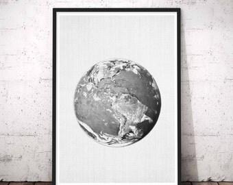 Earth Print, Earth Photo, Planet Print, Earth Wall Art, Instant Download, Earth Printable Art, Planet Wall Art, Planet Earth Art, Earth