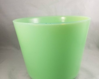 McKee Jadite Canister.  Jadite Vase or Planter