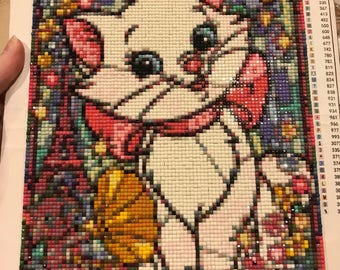 Diamond embroidery Aristocats Marie completed artwork