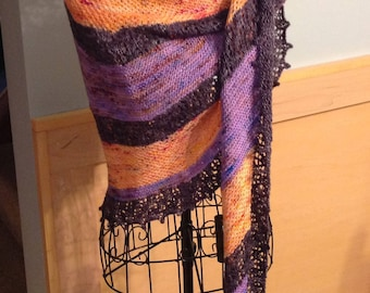 Knitted Shawl / Scarf / Wrap / Hand Knit