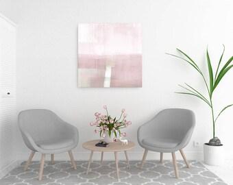 Abstract Landscape Painting, Blush Pink Wall Art, Large Canvas Art, Abstract Art Print, Scandinavian Art, Large Wall Art, Minimalist Art