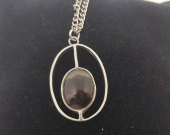 Amazing Silver and Blue John Pendant with Chain.
