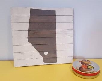 I <3 Alberta Wooden Art Sign