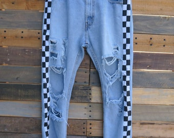 0478 - American Vintage - Street Styled - Checkered Pants