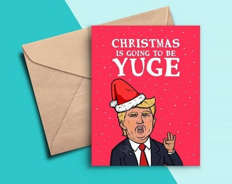 Funny Christmas Card, Funny Trump Christmas Card, Best Friend, Boyfriend, Girlfriend, Mom, Dad, Christmas Cards Funny, Box Set, Holiday Card
