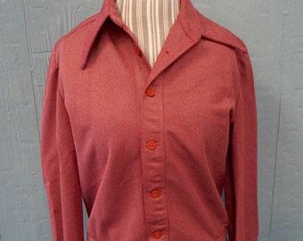 Pink 70s Light Jacket - Button Up