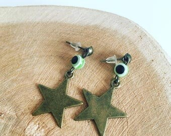 Pearl and Bronze Star earing