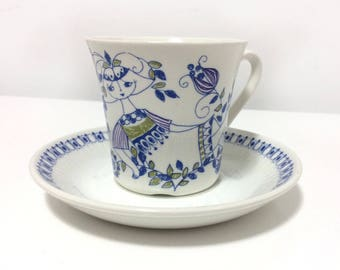 Figgjo, 'LOTTE' Turi design (5) sets of Cups and Saucers, Norway