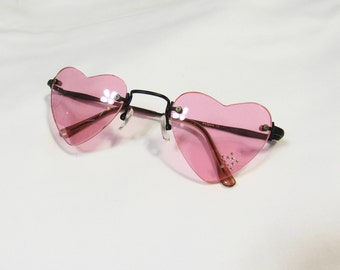 90s / y2k heart shaped sunglasses w/ color lenses ; 6 colors available