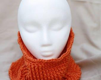 Orange Crochet Cowl